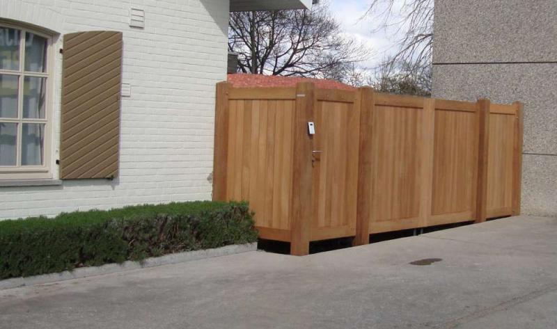 Afzelia opstelling in hoek - Latwerk houten ...
